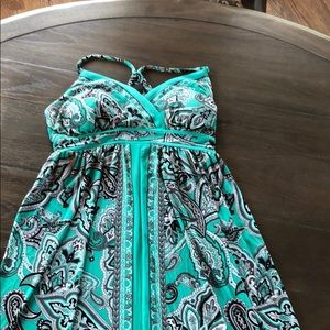 Beautiful Green INC Maxi Dress PS Great Condition
